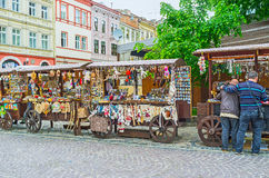 The souvenir stalls in Lvov stock photography