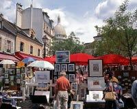 Souvenir stalls, Paris. Royalty Free Stock Image