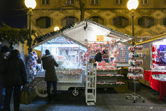 Souvenir stand at Advent time Royalty Free Stock Photography