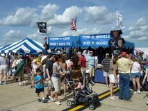 Souvenir Stand at the Air Show royalty free stock photos