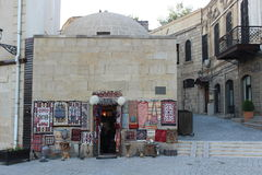 Souvenir stand in Baku old town Royalty Free Stock Image