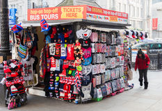 Souvenir stand in Central London Stock Image