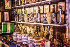 Souvenir stand in the historic palace of the Roman emperor Diocletian in Split, Croatia Royalty Free Stock Images