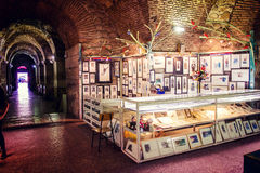 Souvenir stand in the historic palace of the Roman emperor Diocletian in Split, Croatia Royalty Free Stock Image