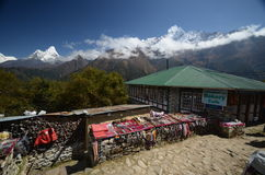 Souvenir stands in the Himalayas Royalty Free Stock Photos