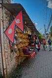 Souvenir stands in Kathmandu Stock Photo
