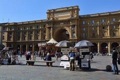 Souvenir stannar i Florence, Italien Arkivbilder