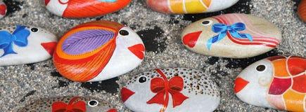 Souvenir stone fish Stock Image