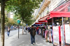Souvenir store on PARIS Streets Royalty Free Stock Images
