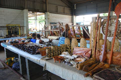 Souvenir store at town market South Pacific, Tonga Royalty Free Stock Image