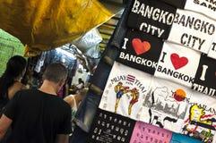 Souvenir t-shirts on sale at Patpong night market, Bangkok Stock Photo