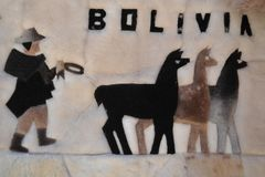 Souvenir towel in the Bolivian town of Copacabana Royalty Free Stock Images