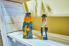 The figurines of old jews, Krakow, Poland stock photos