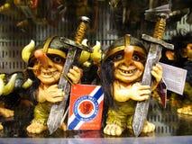 Souvenir ugly troll figure Stock Photos