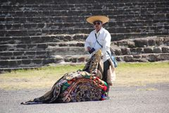 Souvenir vendor at Teotihuacan ancient pre-Columbian site, Mexico Stock Photo