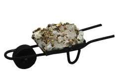 Souvenir - a wheelbarrow with ore Royalty Free Stock Image