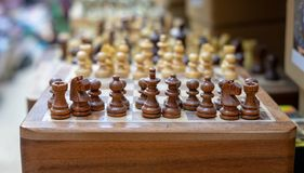 Souvenir wooden chess for sale at old market. Jerusalem. Israel stock image