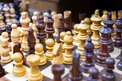 Souvenir wooden chess for sale at old market. Jerusalem. Israel stock images