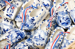 Souvenir wooden shoes amsterdam holland Royalty Free Stock Photo