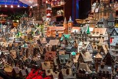 Souvenires on Christmas market in Hamburg Stock Photos