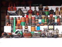 Souvenirladen in Bagan, Myanmar Lizenzfreie Stockbilder