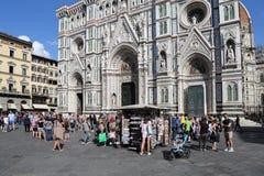 Souvenirladen in der Kathedrale von Florenz, Italien Lizenzfreie Stockfotografie