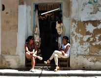 Souvenirladen in Havana stockbild