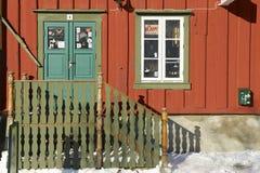 Souvenirladeneingang in im Stadtzentrum gelegenem Tromso, Norwegen Stockbild
