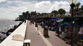 Souvenirmarknad i Curacao arkivfilmer