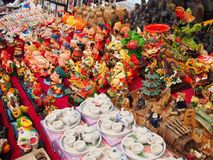 Souvenirs in Asian Market Royalty Free Stock Images