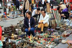Souvenirs at Beijing Antique Market in Beijing Royalty Free Stock Photography