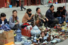 Souvenirs at Beijing Antique Market in Beijing Stock Photo