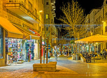 The souvenirs in Ben Yehuda street Royalty Free Stock Photography