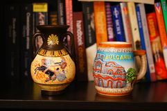 Souvenirs and books Royalty Free Stock Photography