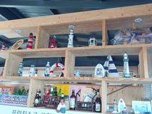 Souvenirs cafe decorations stock image