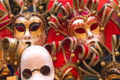 Souvenirs and carnival masks on street trading in Venice, Stock Photos