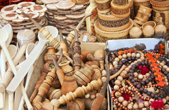 Souvenirs carved from wood Royalty Free Stock Photography