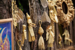 Souvenirs de paille Images stock