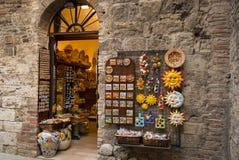 Souvenirs de San Gimignano, Italie Photographie stock