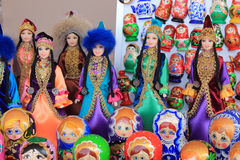 Souvenirs dolls Stock Photos