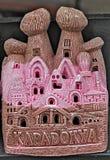 souvenirs en céramique de cappadocia de cheminée féerique Photo libre de droits