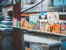 Souvenirs  in Gdansk. Souvenirs in the old town in Gdansk. Poland Royalty Free Stock Image