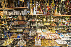 Souvenirs in Grand bazaar, Istanbul Stock Photo