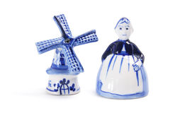 Souvenirs from Holland. On White Background Stock Photos