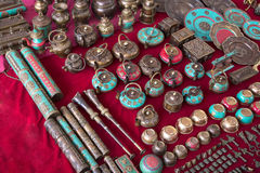 Souvenirs in Indian market Royalty Free Stock Photos