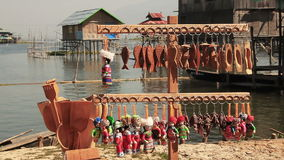 Souvenirs Inle Lake stock footage