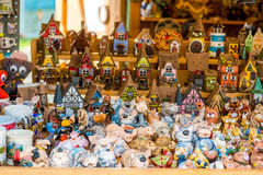 Souvenirs. In Jurmala outdoors shop Royalty Free Stock Image