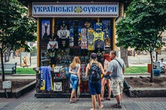 Souvenirs in Kiev Royalty Free Stock Image