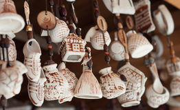 Souvenirs made of clay Stock Photo