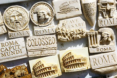 Souvenirs magnets in Rome Royalty Free Stock Photos